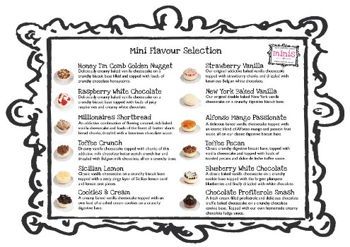 Wedding Cheesecake Flavours