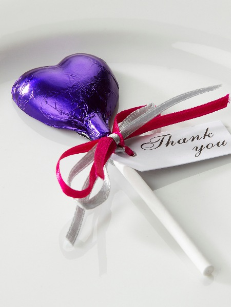 Chocolate Lolly Wedding Favour