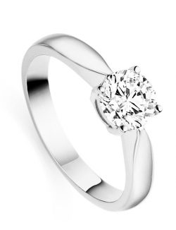 Diamond engagement ring for Christmas
