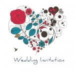 Heart Of Flowers Wedding Invitation Planet Cards
