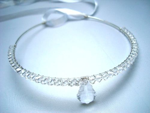 Bridal forehead band White Fairy