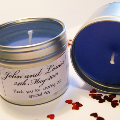 Wedding Favour Candle Tins
