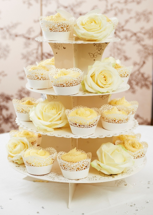 Wedding Cup Cake Stand and Wraps