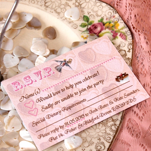 Tea Party Wedding Stationery