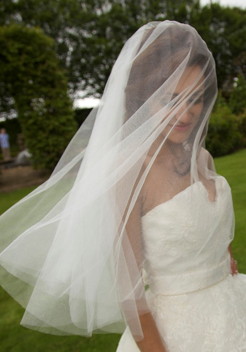 Anne Guise silk wedding veil