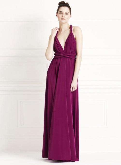 Twist and wrap bridesmaids dress