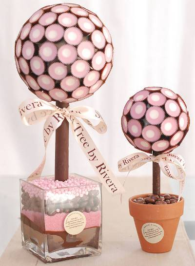 Sweet Tree wedding table centre chocolate cup