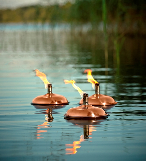 Floating Oil Lamps Copper