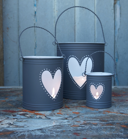 Hurricane Wedding Lanterns Slate Grey