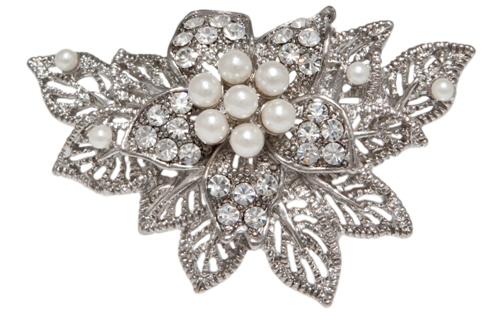 1940s wedding brooch