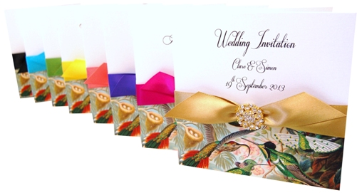 Bird Of Paradise Made With Love Wedding Stationery