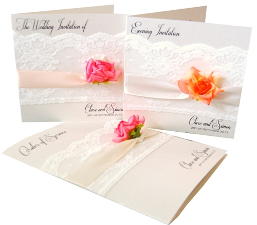 Lace & Rose Made With Love Wedding Stationery