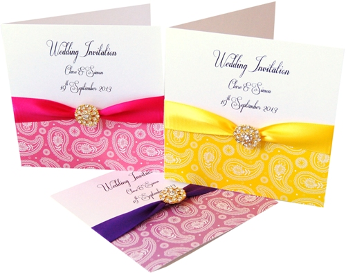Paisley Print Made With Love Wedding Stationery
