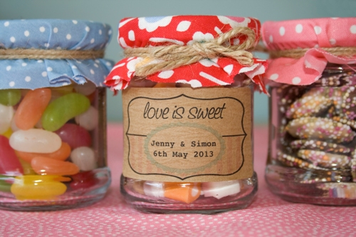 Love Is Sweet Confectionery Favour Stickers