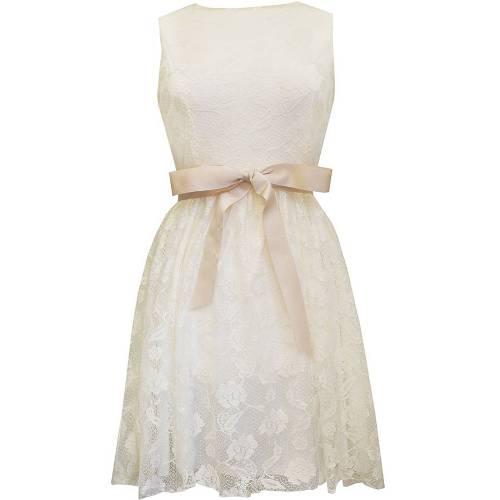Cream lace bridesmaids dress