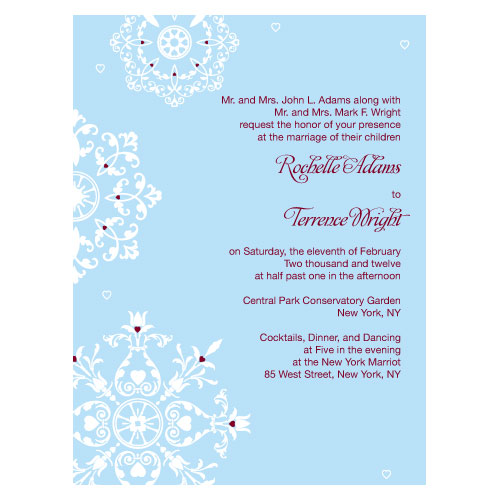Confetti Winter Wedding Stationery