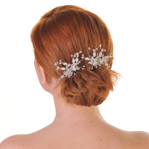 Floral Sprig Wedding Comb Aye Do