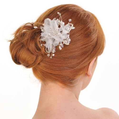Organza Flower Bridal Hair Comb