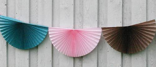 Paper fan wedding garland