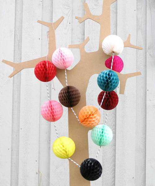 Paper ball wedding garland kit