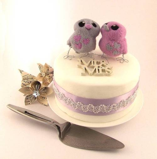 Love bird wedding cake topper Felt Me Up