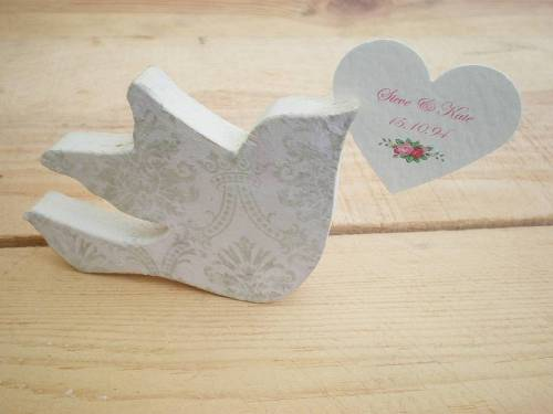Personalised wooden love bird Edge Inspired