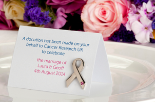 Charity Wedding Favours Cancer Research